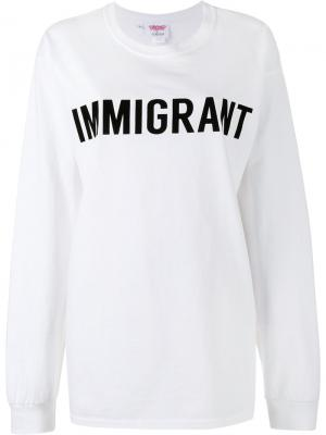Толстовка Crew Neck Immigrant Ashish. Цвет: белый