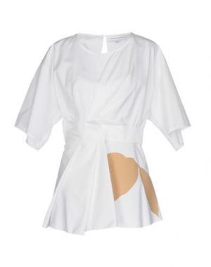 Блузка JONATHAN SAUNDERS. Цвет: белый