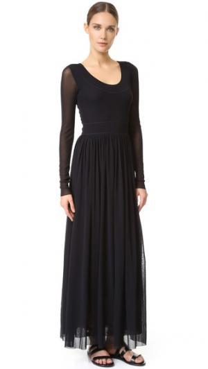 Платье с длинными рукавами Fuzzi. Цвет: голубой