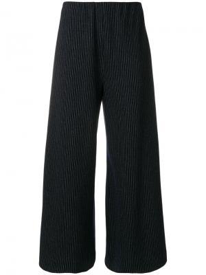 Укороченные брюки в полоску Harris Wharf London. Цвет: синий