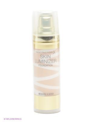 Тональная основа Skin Luminizer, 45 тон warm almond MAX FACTOR. Цвет: бежевый