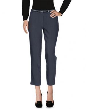 Повседневные брюки KORALLINE. Цвет: свинцово-серый