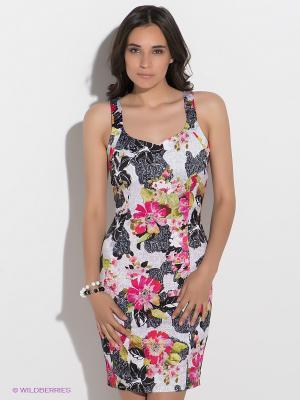 Платье GUESS. Цвет: черный, зеленый, розовый, белый