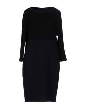 Платье до колена ANTONELLI. Цвет: темно-синий