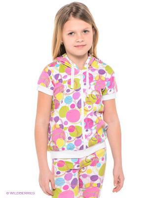 Толстовка PlayToday. Цвет: белый, фиолетовый, розовый, желтый