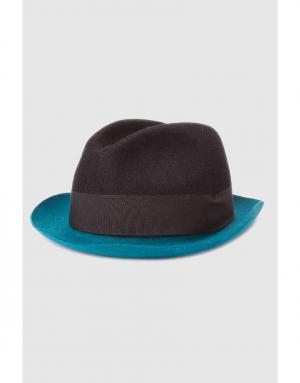Шляпа Costume National. Цвет: черный, бирюзовый