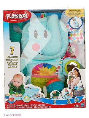 Веселый Слоник Hasbro. Цвет: голубой