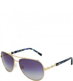 Солнцезащитные очки с градиентными линзами Michael Kors. Цвет: золотистый