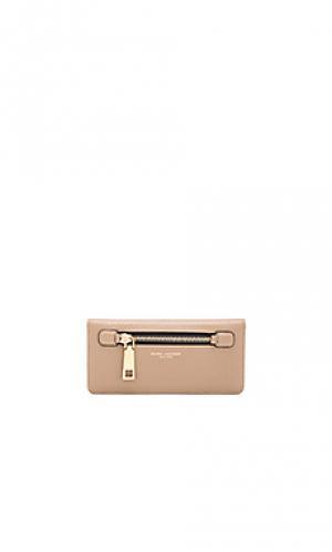 Открытый бумажник gotham Marc Jacobs. Цвет: серо-коричневый