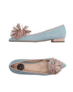 Туфли LISA C BIJOUX. Цвет: небесно-голубой