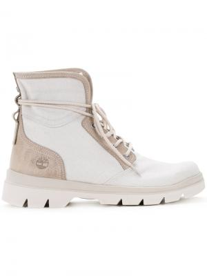 Сапоги со шнуровкой Timberland. Цвет: белый