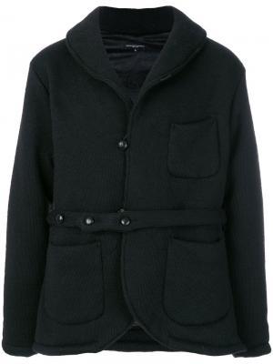 Куртка Shawl с поясом Engineered Garments. Цвет: чёрный