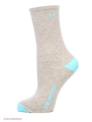 Носки, 3 пары Unlimited. Цвет: серый меланж, морская волна