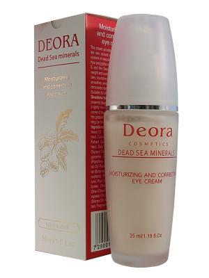 Увлажняющий и корректирующий крем вокруг глаз, 35 мл. Deora Cosmetics. Цвет: бежевый