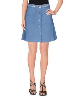 Джинсовая юбка STUSSY. Цвет: синий