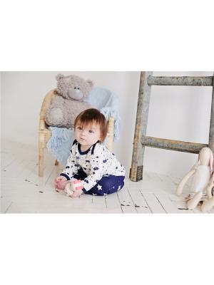 Кофточка Котики Lucky Child. Цвет: синий, молочный