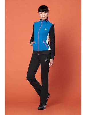 Спортивный костюм devita. Цвет: голубой