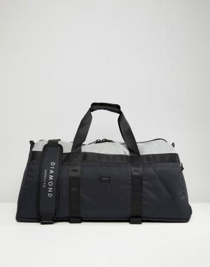 Diamond Supply Светло-бежевая сумка дафл. Цвет: черный