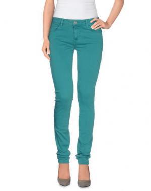 Повседневные брюки SIWY. Цвет: цвет морской волны