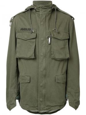 Куртка в стиле милитари Ambush. Цвет: зелёный