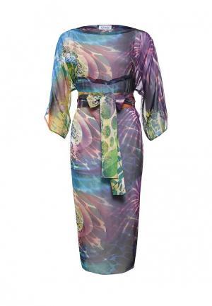 Платье Voielle. Цвет: разноцветный