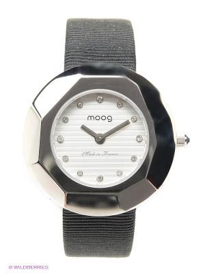 Часы MOOG. Цвет: светло-серый