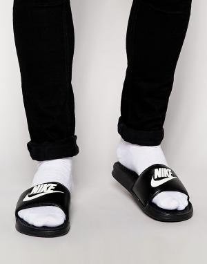 Nike Шлепанцы Benassi JDI 343880-090. Цвет: черный