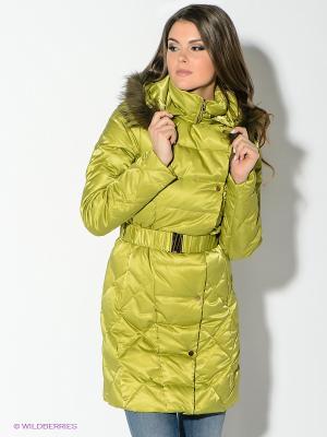Пальто CONVER. Цвет: светло-зеленый