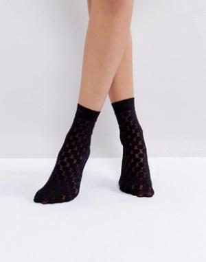 Jonathan Aston Черные носки в горошек. Цвет: черный