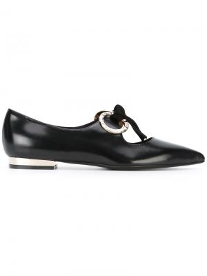 Tie up pointed ballerinas Coliac. Цвет: чёрный