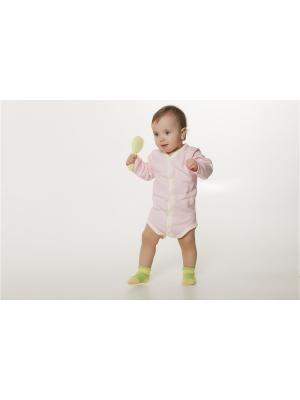 Боди ORANGE BABY. Цвет: бледно-розовый, бежевый