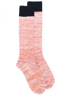 Носки с ребристой фактурой Marni. Цвет: жёлтый и оранжевый