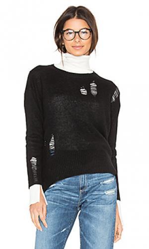 Рваный свитер из кашемира Enza Costa. Цвет: черный