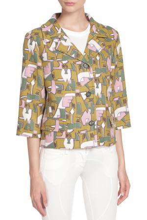 Куртка Marni. Цвет: fr563 желтый, зеленый, розовый