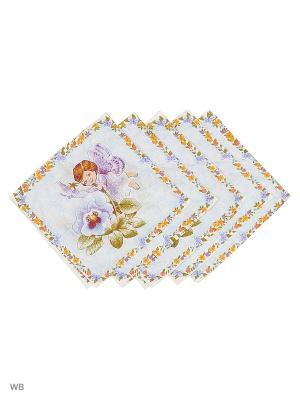 Набор платков носовых детских Римейн. Цвет: голубой, фиолетовый