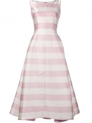 Платье в полоску Fiona Emilia Wickstead. Цвет: белый