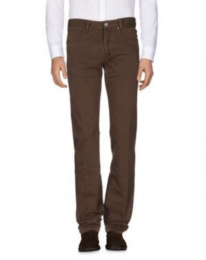 Повседневные брюки BETWOIN. Цвет: темно-коричневый