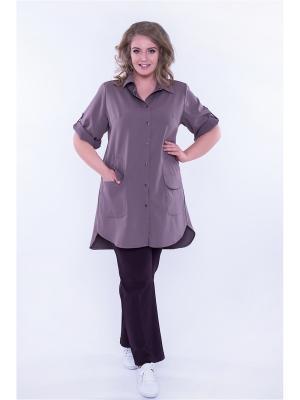 Платье рубашка Техас Авантюра. Цвет: светло-коричневый