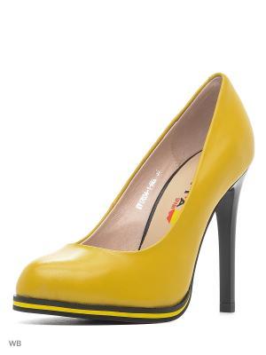 Туфли EVITA. Цвет: желтый