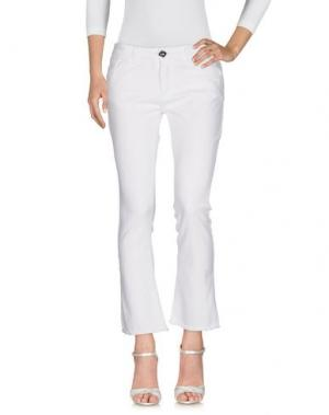 Джинсовые брюки MOTEL. Цвет: белый
