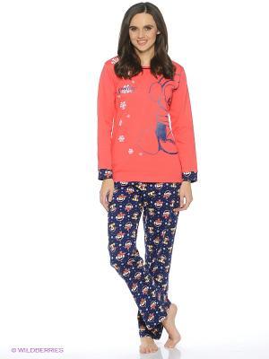 Пижама ROLY POLY. Цвет: коралловый