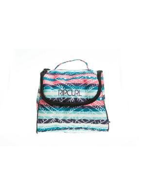 Косметичка ETHNIC VANITY Rip Curl. Цвет: голубой, светло-голубой, розовый