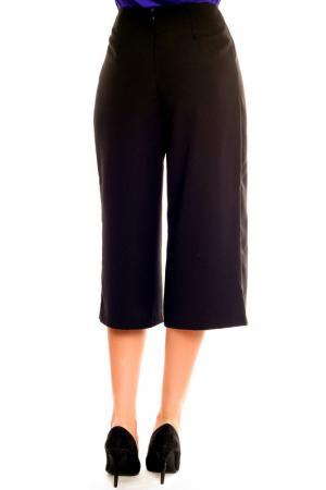 Три четверти брюки Moda di Chiara. Цвет: черный