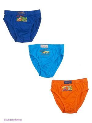 Трусы, 3 шт Cascatto. Цвет: синий, голубой, оранжевый