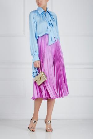 Шелковая юбка Ester Abner. Цвет: розовый