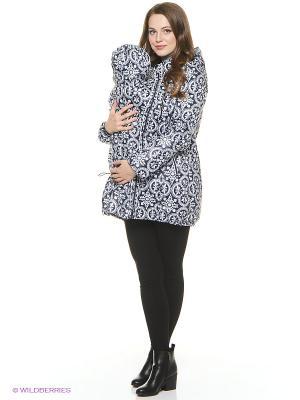 Куртка Mum`s Era. Цвет: темно-синий, белый