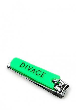 Щипчики для ногтей Divage. Цвет: зеленый
