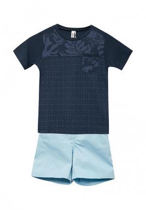 Комплект футболка и шорты Relax Mode. Цвет: синий