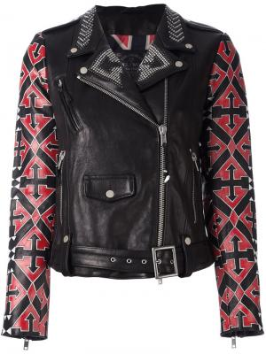 Байкерская куртка Arrow Htc Hollywood Trading Company. Цвет: чёрный