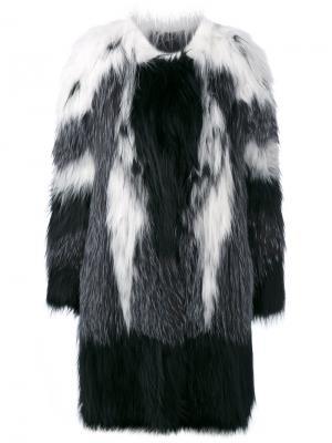 Пальто свободного кроя Liska. Цвет: чёрный